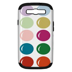 Brights Pastels Bubble Balloon Color Rainbow Samsung Galaxy S Iii Hardshell Case (pc+silicone)