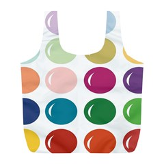 Brights Pastels Bubble Balloon Color Rainbow Full Print Recycle Bags (L)
