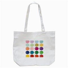 Brights Pastels Bubble Balloon Color Rainbow Tote Bag (White)