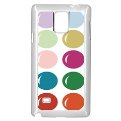 Brights Pastels Bubble Balloon Color Rainbow Samsung Galaxy Note 4 Case (White)