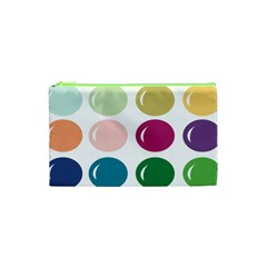 Brights Pastels Bubble Balloon Color Rainbow Cosmetic Bag (XS)
