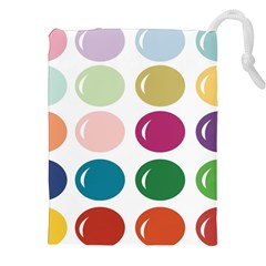 Brights Pastels Bubble Balloon Color Rainbow Drawstring Pouches (XXL)