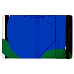 Blue Flower Leaf Black White Striped Rose Apple iPad 3/4 Flip Case