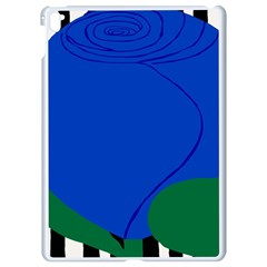 Blue Flower Leaf Black White Striped Rose Apple Ipad Pro 9 7   White Seamless Case