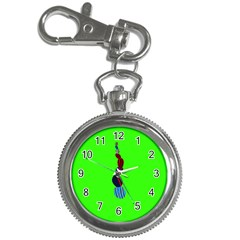 Egg Line Rainbow Green Key Chain Watches