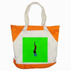 Egg Line Rainbow Green Accent Tote Bag