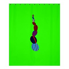 Egg Line Rainbow Green Shower Curtain 60  X 72  (medium)