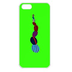 Egg Line Rainbow Green Apple iPhone 5 Seamless Case (White)