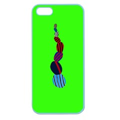 Egg Line Rainbow Green Apple Seamless iPhone 5 Case (Color)