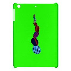 Egg Line Rainbow Green Apple iPad Mini Hardshell Case