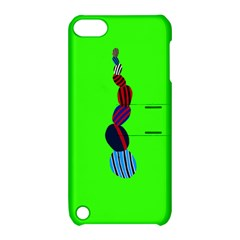 Egg Line Rainbow Green Apple iPod Touch 5 Hardshell Case with Stand