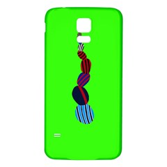 Egg Line Rainbow Green Samsung Galaxy S5 Back Case (White)