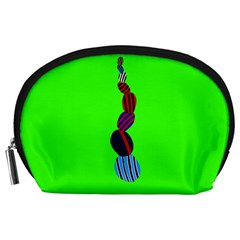 Egg Line Rainbow Green Accessory Pouches (Large)