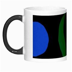Flower Green Blue Polka Dots Morph Mugs