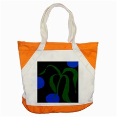 Flower Green Blue Polka Dots Accent Tote Bag