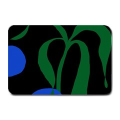 Flower Green Blue Polka Dots Plate Mats