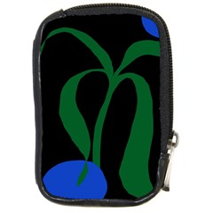 Flower Green Blue Polka Dots Compact Camera Cases