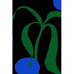 Flower Green Blue Polka Dots 5.5  x 8.5  Notebooks