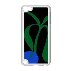 Flower Green Blue Polka Dots Apple iPod Touch 5 Case (White)