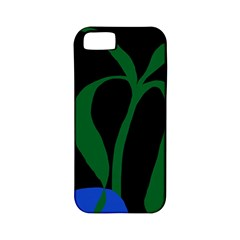 Flower Green Blue Polka Dots Apple iPhone 5 Classic Hardshell Case (PC+Silicone)
