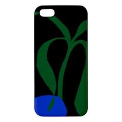 Flower Green Blue Polka Dots Apple iPhone 5 Premium Hardshell Case