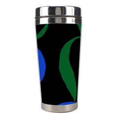 Flower Green Blue Polka Dots Stainless Steel Travel Tumblers