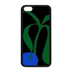 Flower Green Blue Polka Dots Apple iPhone 5C Seamless Case (Black)