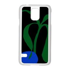 Flower Green Blue Polka Dots Samsung Galaxy S5 Case (white)