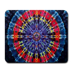 Circle Purple Green Tie Dye Kaleidoscope Opaque Color Large Mousepads