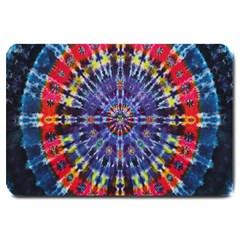 Circle Purple Green Tie Dye Kaleidoscope Opaque Color Large Doormat