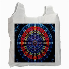 Circle Purple Green Tie Dye Kaleidoscope Opaque Color Recycle Bag (One Side)