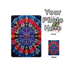 Circle Purple Green Tie Dye Kaleidoscope Opaque Color Playing Cards 54 (Mini)
