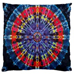Circle Purple Green Tie Dye Kaleidoscope Opaque Color Large Cushion Case (One Side)
