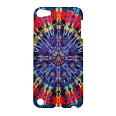 Circle Purple Green Tie Dye Kaleidoscope Opaque Color Apple iPod Touch 5 Hardshell Case
