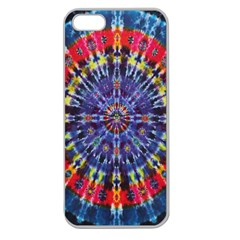 Circle Purple Green Tie Dye Kaleidoscope Opaque Color Apple Seamless iPhone 5 Case (Clear)