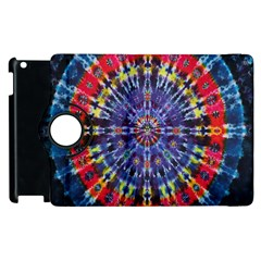 Circle Purple Green Tie Dye Kaleidoscope Opaque Color Apple iPad 3/4 Flip 360 Case
