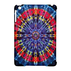Circle Purple Green Tie Dye Kaleidoscope Opaque Color Apple iPad Mini Hardshell Case (Compatible with Smart Cover)