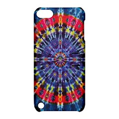 Circle Purple Green Tie Dye Kaleidoscope Opaque Color Apple iPod Touch 5 Hardshell Case with Stand