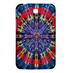 Circle Purple Green Tie Dye Kaleidoscope Opaque Color Samsung Galaxy Tab 3 (7 ) P3200 Hardshell Case