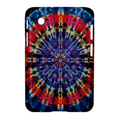 Circle Purple Green Tie Dye Kaleidoscope Opaque Color Samsung Galaxy Tab 2 (7 ) P3100 Hardshell Case