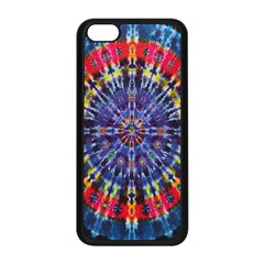 Circle Purple Green Tie Dye Kaleidoscope Opaque Color Apple iPhone 5C Seamless Case (Black)