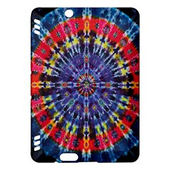 Circle Purple Green Tie Dye Kaleidoscope Opaque Color Kindle Fire HDX Hardshell Case