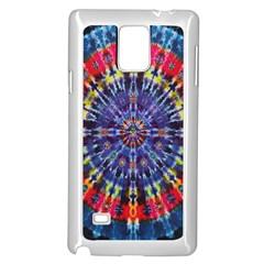 Circle Purple Green Tie Dye Kaleidoscope Opaque Color Samsung Galaxy Note 4 Case (White)