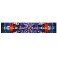 Circle Purple Green Tie Dye Kaleidoscope Opaque Color Flano Scarf (Large)