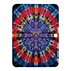 Circle Purple Green Tie Dye Kaleidoscope Opaque Color Samsung Galaxy Tab 4 (10.1 ) Hardshell Case