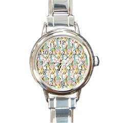 Wooden Gorse Illustrator Photoshop Watercolor Ink Gouache Color Pencil Round Italian Charm Watch