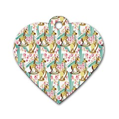 Wooden Gorse Illustrator Photoshop Watercolor Ink Gouache Color Pencil Dog Tag Heart (one Side)