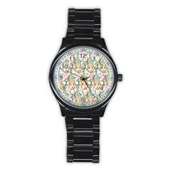 Wooden Gorse Illustrator Photoshop Watercolor Ink Gouache Color Pencil Stainless Steel Round Watch