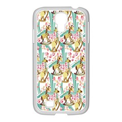 Wooden Gorse Illustrator Photoshop Watercolor Ink Gouache Color Pencil Samsung GALAXY S4 I9500/ I9505 Case (White)