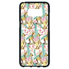 Wooden Gorse Illustrator Photoshop Watercolor Ink Gouache Color Pencil Samsung Galaxy S8 Black Seamless Case